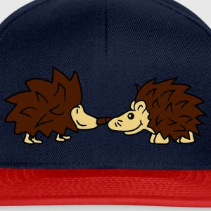 friends team few couple kissing love love nose kis T-Shirts - Snapback Cap