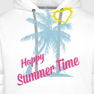 HAPPY SUMMER TIME T-Shirts - Männer Premium Hoodie