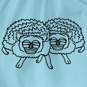 2 freunde team nerd geek hornbrille pickel freak s T-Shirts - Turnbeutel