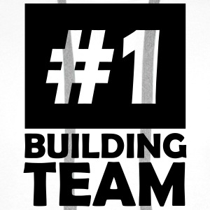number one building team T-Shirts - Men's Premium Hoodie