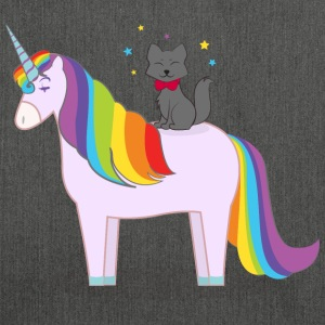 Unicorn With Magic Cat T-Shirts - Shoulder Bag made from recycled material