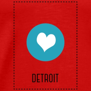 I Love Detroit Tops - Mannen Premium T-shirt