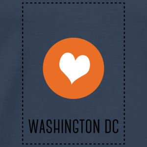 I Love Washington DC Topper - Premium T-skjorte for menn