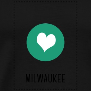 I Love Milwaukee Manga larga - Camiseta premium hombre