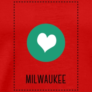 I Love Milwaukee Long Sleeve Shirts - Men's Premium T-Shirt