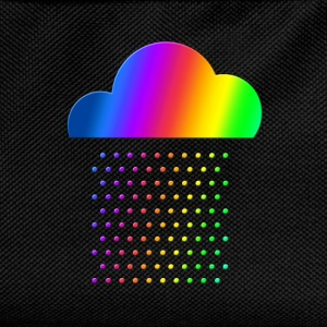 Colorful Weather - We love rain! rainbow cloud gay Shirts - Kids' Backpack