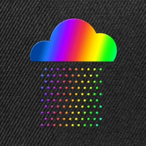 Colorful Weather - We love rain! rainbow cloud gay T-Shirts - Snapback Cap