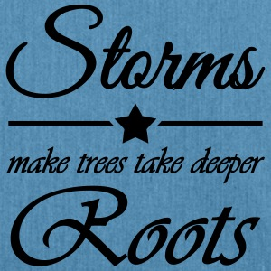 Storms make trees take deeper roots Sportbekleidung - Schultertasche aus Recycling-Material