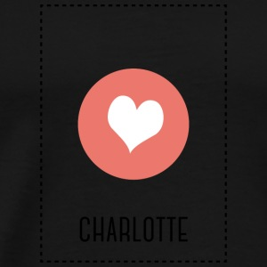 I Love Charlotte Long Sleeve Shirts - Men's Premium T-Shirt
