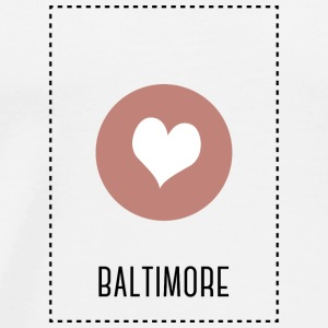 I Love Baltimore Long Sleeve Shirts - Men's Premium T-Shirt