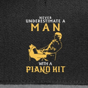 NIEMALD UNDERESTIMATE THE MAN AT THE PIANO! Tops - Snapback Cap
