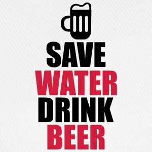 T-shirt save water drink beer - Cappello con visiera