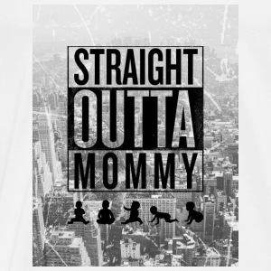 straight outta mommy Baby Bodys - Männer Premium T-Shirt