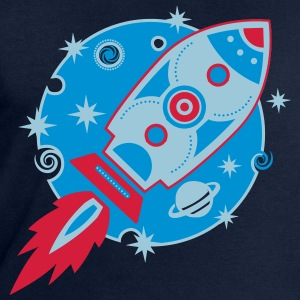 Retro Rakete, rocket, Planet, space, galaxy T-Shirts - Männer Sweatshirt von Stanley & Stella