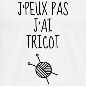 Tricot / Tricoter / Tricoteuse / Broderie Tabliers - T-shirt Premium Homme