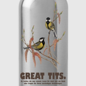Greats tits t-shirt - Trinkflasche