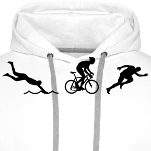 triathlon T-Shirts - Men's Premium Hoodie