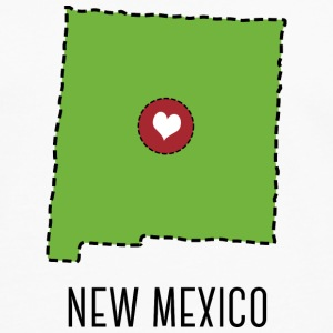New Mexico State Herz T-shirts - Herre premium T-shirt med lange ærmer