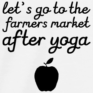 Let's go to the farmer's market after yoga Tops - Men's Premium T-Shirt