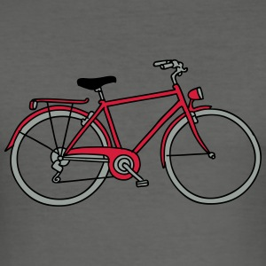 Bicycle 3 Bags & Backpacks - Men's Slim Fit T-Shirt