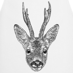 Roe Deer Stag T-Shirt - Women's - Cooking Apron