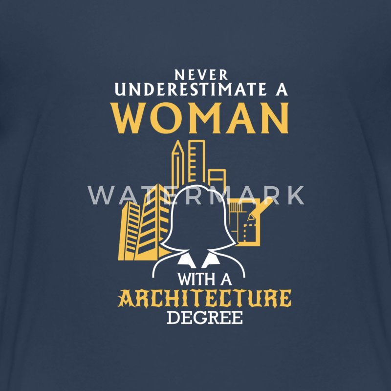 NEVER UNDERESTIMATE AN ARCHITECT! Shirts - Teenage Premium T-Shirt