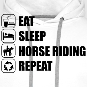 eat,sleep,horse riding,repeat - Männer Premium Hoodie