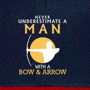 A MAN NEVER UNDERESTIMATE WITH BOW AND ARROW! Long sleeve shirts - Snapback Cap