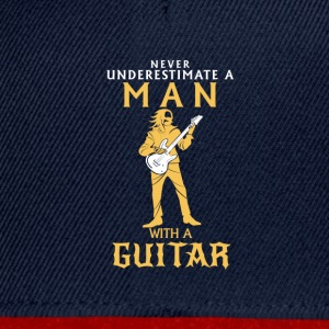 NEVER UNDERESTIMATE A MAN WITH A BASS GUITAR! Shirts - Snapback Cap