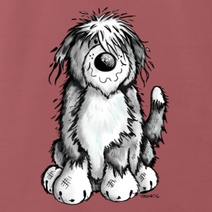 Leuke Bearded Collie Baby slabbetjes - Mannen Premium T-shirt