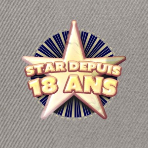 Star depuis 18 ans Tee shirts - Casquette snapback