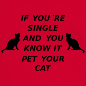 If You're Single And You Know It Pet Your Cat Tassen & rugzakken - Mannen contrastshirt