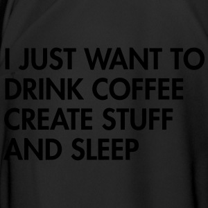 I just want to drink coffee create stuff and sleep Mokken & toebehoor - Mannen voetbal shirt