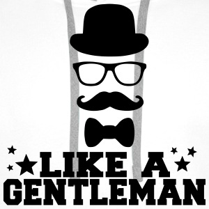 like a gentleman Tee shirts - Sweat-shirt à capuche Premium pour hommes
