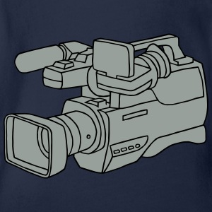 Video camera 2 Long Sleeve Shirts - Organic Short-sleeved Baby Bodysuit