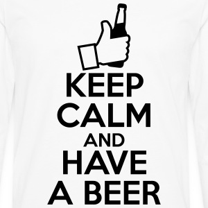 KEEP CALM AND HAVE A BEER - T-shirt manches longues Premium Homme