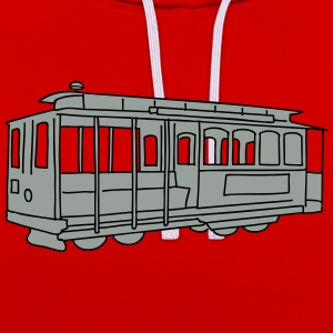 San Francisco Cable Car 2 T-Shirts - Kontrast-Hoodie