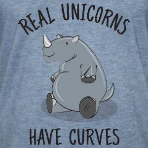 Real unicorns have curves Sweat-shirts - T-shirt vintage Homme