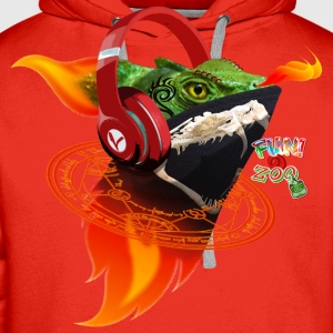 FLAME ON LIZARD ! (WHITE) - Men's Premium Hoodie