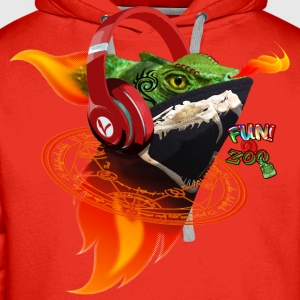 FLAME ON LIZARD ! (BLACK) - Men's Premium Hoodie