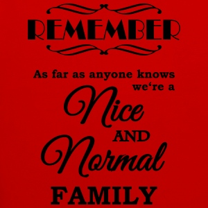 Remember we're a nice and normal family Koszulki - Bluza z kapturem z kontrastowymi elementami