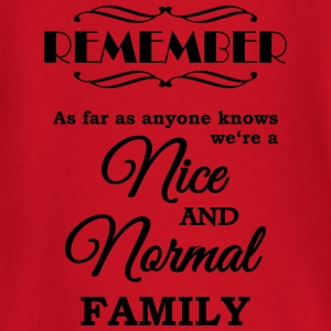 Remember we're a nice and normal family T-skjorter - Langarmet baby-T-skjorte