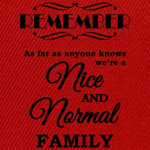 Remember we're a nice and normal family T-shirts - Snapbackkeps