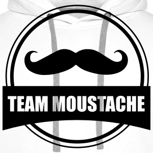 Team moustache - Sweat-shirt à capuche Premium pour hommes