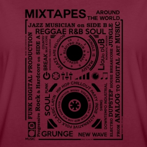 Genres of a mixtape - Fontart Audio cassette Hoodies & Sweatshirts - Women's Oversize T-Shirt