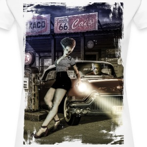 monster_cadillac_vertical_color - Camiseta premium mujer