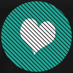 Striped heart turquoise Tops - Men's Premium T-Shirt