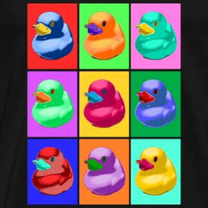 Pop Art Ente, Pop Art Duck Sportkleding - Mannen Premium T-shirt