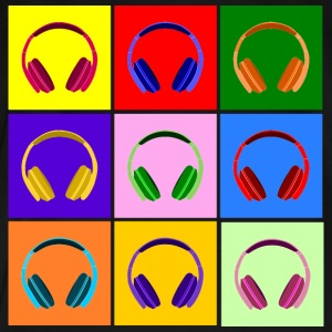 Pop Art Kopfhörer, Pop Art Headphones Sudaderas - Camiseta premium hombre