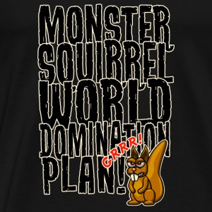 Monster Squirrel World Domination Langarmshirts - Männer Premium T-Shirt